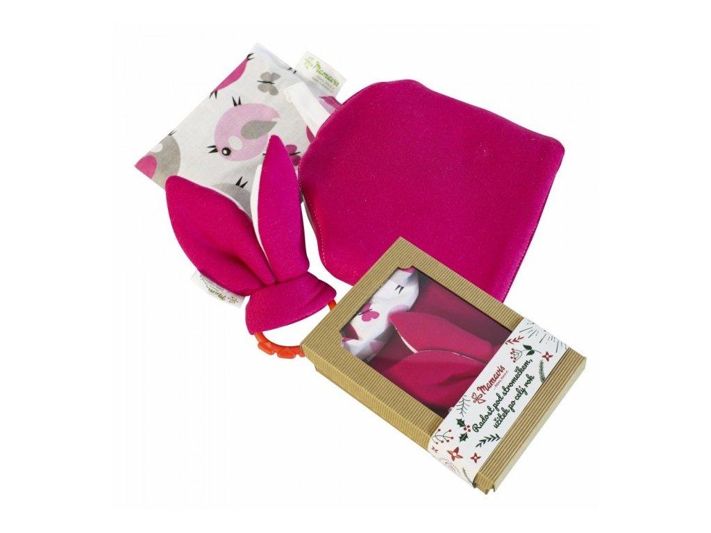 Dárkový balíček pro novorozence červený