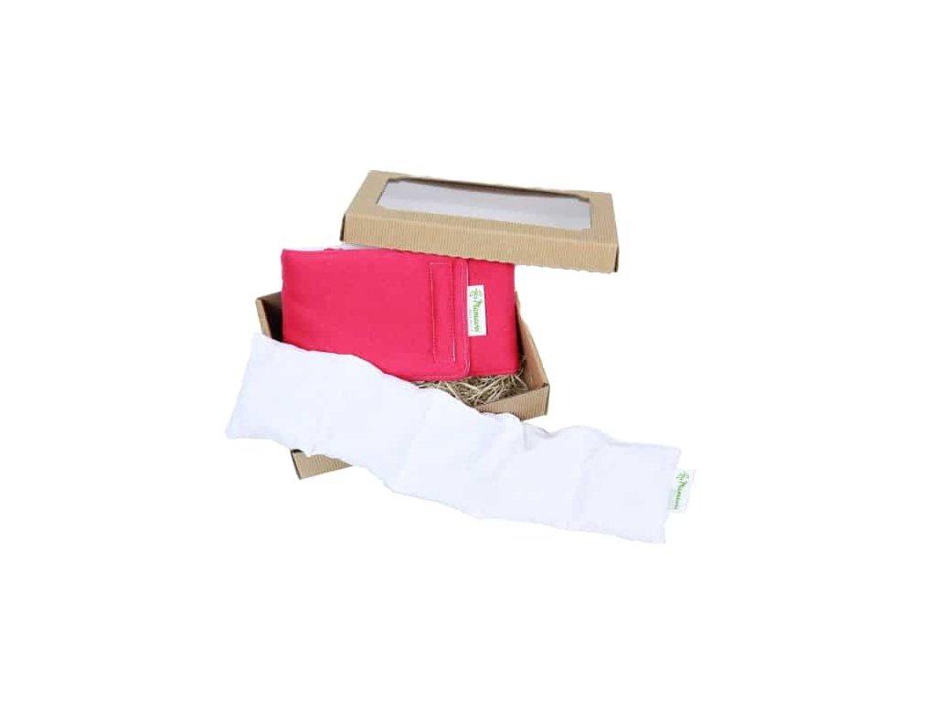 Dárkový balíček pro dospělé zabaly na krk + polštářek červený