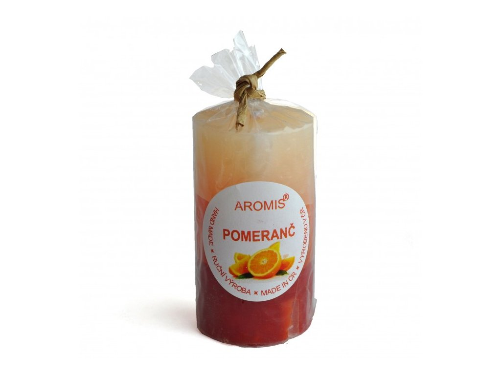 pomeranč svíčka