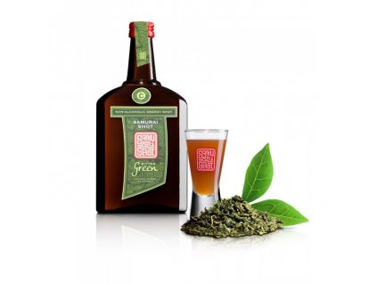 Povzbuzující nealkoholický nápoj BITTER GREEN - zelený čaj a cesmína