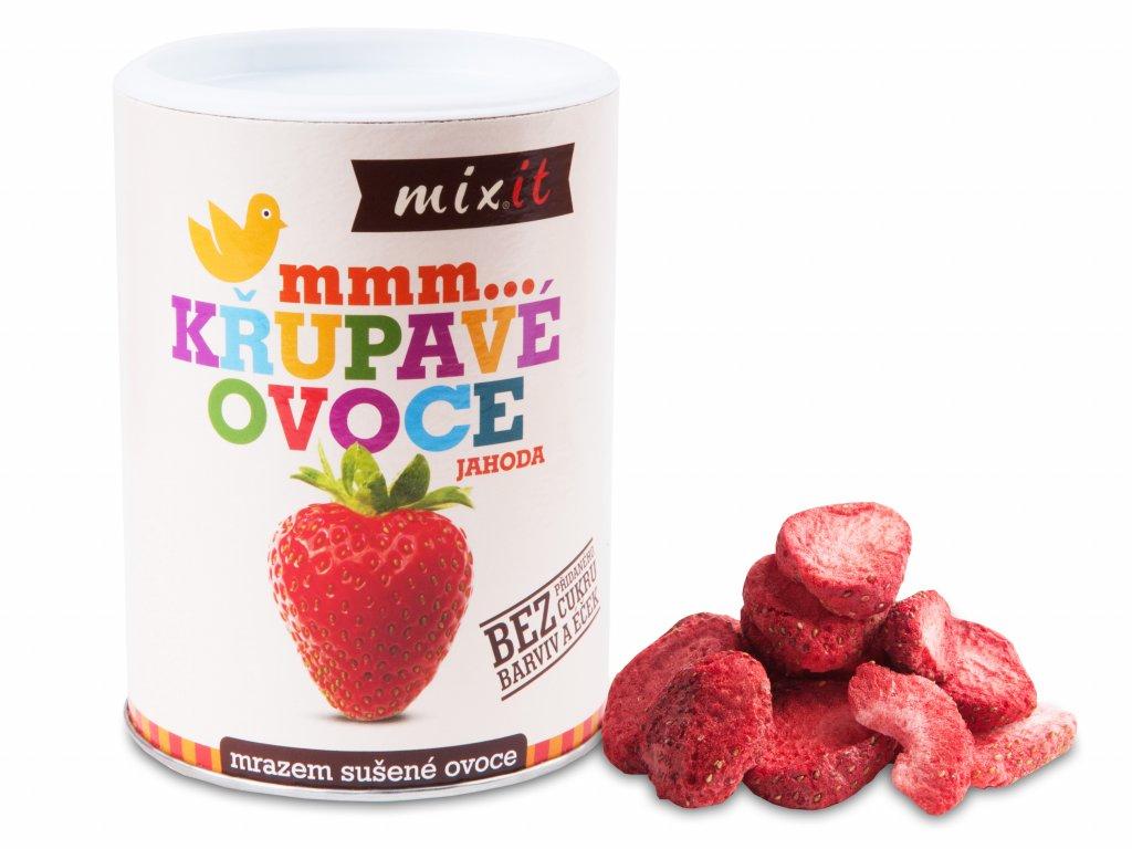 mixit jahoda chrumkave ovocie