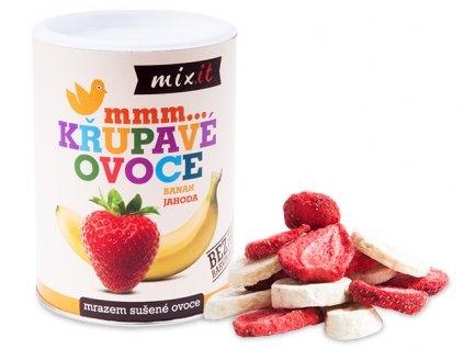 mixit banan Jahoda chrumkave ovocie