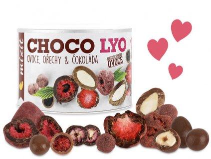 mixit chrumkave ovocie orechy v cokolade