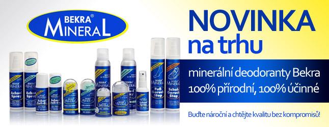 Minerální přírodní deodoranty Bekra