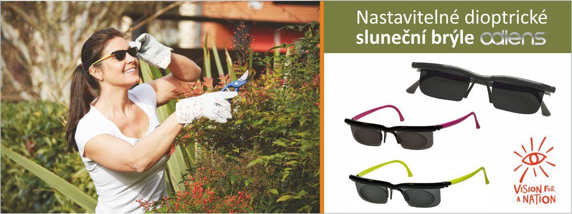 Unikátní sluneční brýle Adlens® s nastavitelnými čočkami poskytnou dokonalé vidění na blízko i na dálku.