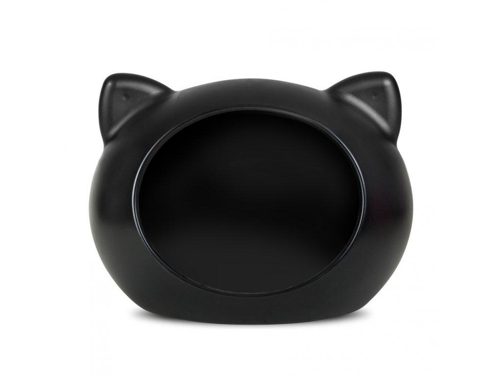 Bílá kočička černá péro com