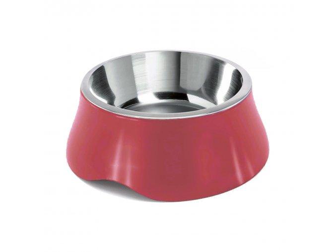 Miska pro psa Argi - nerez / plast - červená - 2800 ml