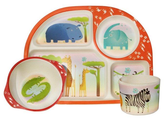 Dětský jídelní set Wild Animals