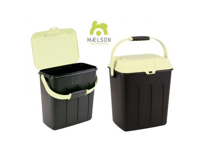 Maelson Box na granule pro 3,5 kg krmiva - černo-béžový - 27 x 22 x 31 cm