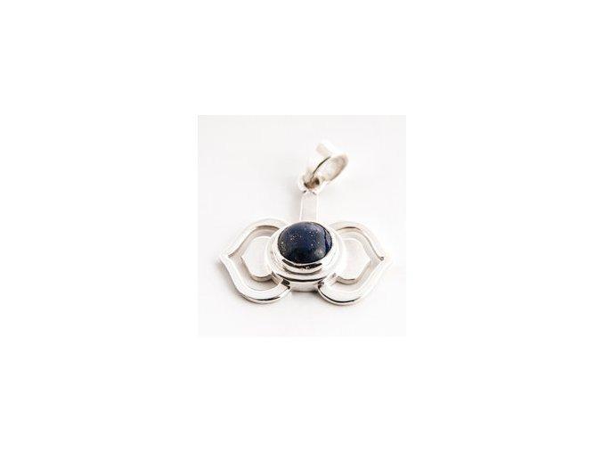 vyr 470cakrovy privesek ajna stribrny s lapis lazuli