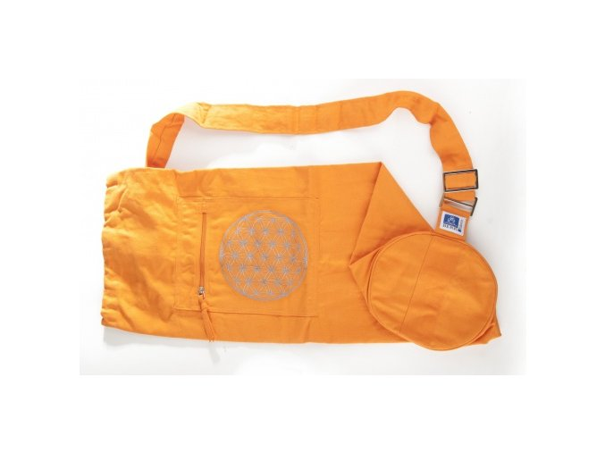 vyr 432Jóga taska Kvet zivota oranzova