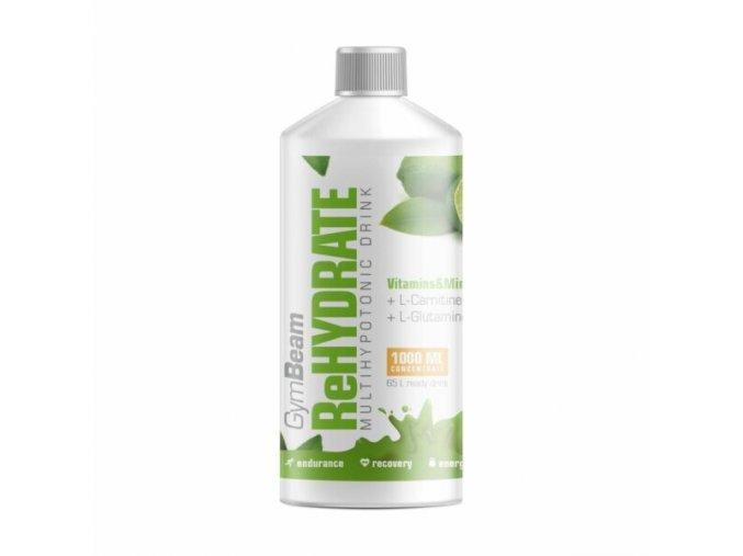 GymBeam ReHydrate 1000 ml - citron - limetka