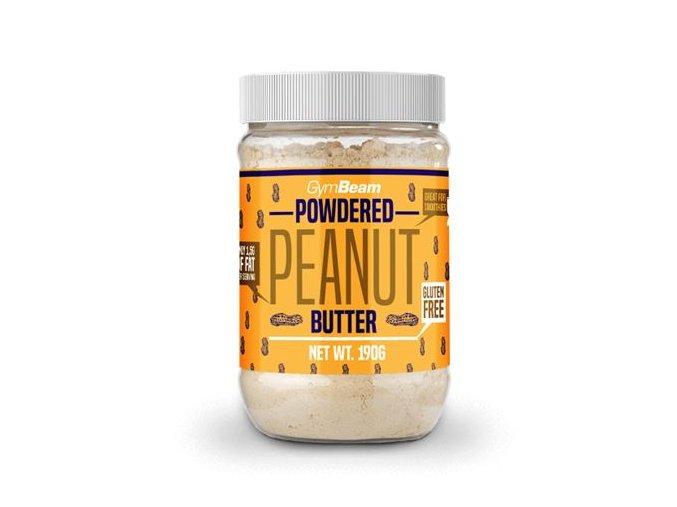 GymBeam Práškové arašídové máslo 190 g