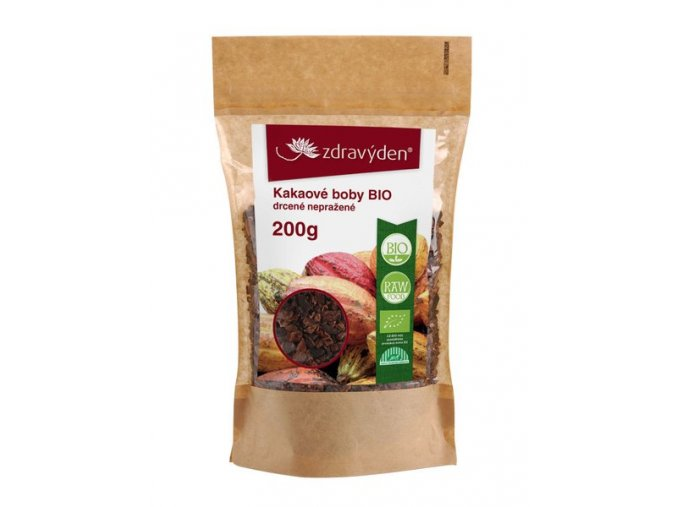 18603 1 kakaove boby bio drcene neprazene 200g
