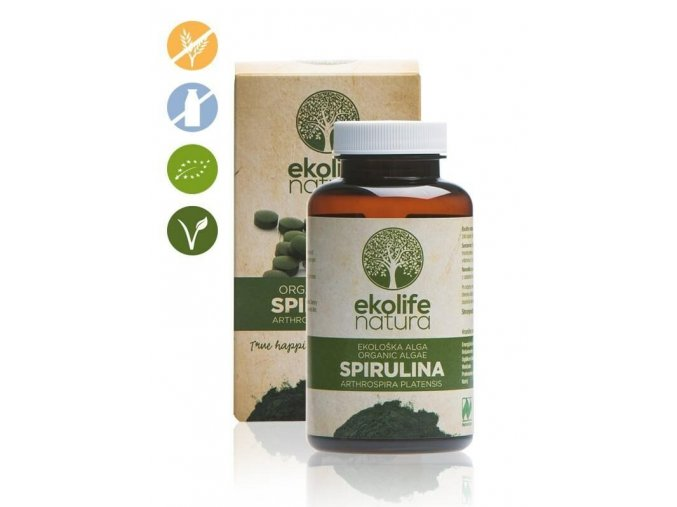 Ekolife Natura Algae Spirulina Organic 240 tablet (Bio řasa spirullina)