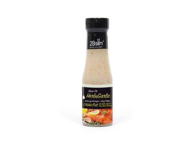2BSLIM Dresing česnek a bylinky 250 ml (6 kcal, 1 g sacharidů)