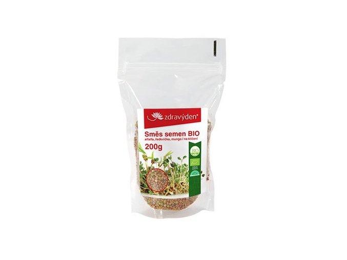 18888 1 smes semen na kliceni bio alfalfa redkvicka mungo 200g