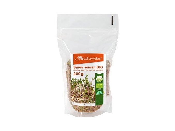 18891 1 smes semen na kliceni bio brokolice redkev cervena jetel 200g
