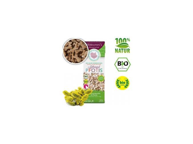 Bio Sušenky - kuřecí mini kostičky 100 g