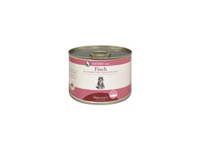 Konzerva pro kočky - Ryba s krevetkami a mušlí - 200 g