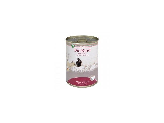 Konzerva pro psy a kočky - Hovězí maso (Bio) 400 g