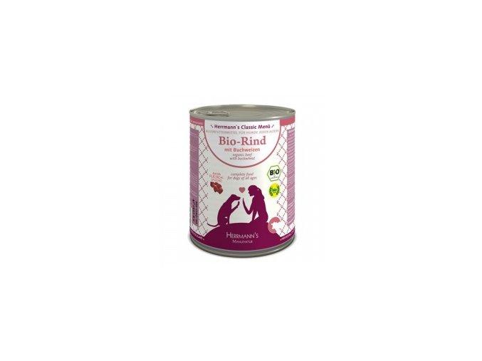 Konzerva pro psy - Hovězí maso s pohankou (Bio) 800 g