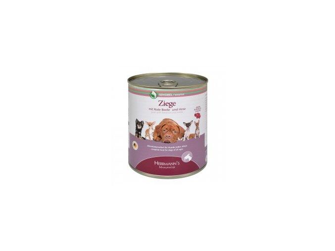 Konzerva pro psy - Kozí maso s červenou řepou a jáhly 800 g