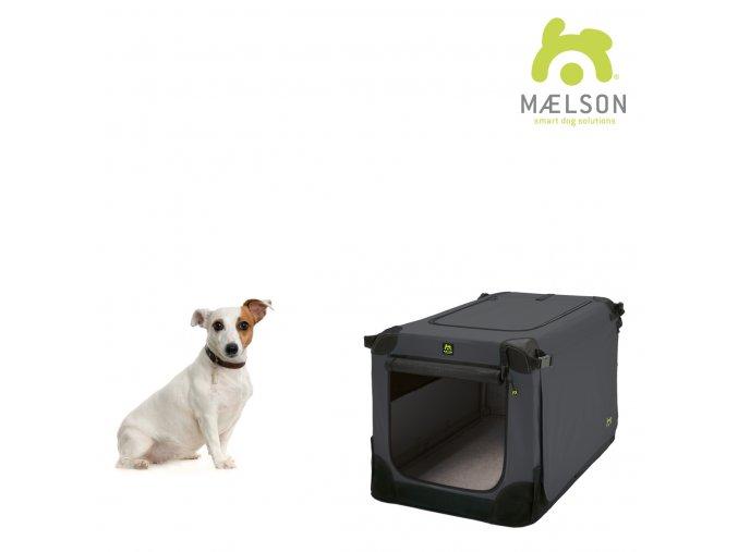 Maelson Nylonová skládací přepravka s ocelovou konstrukcí - černo-antracitová - S - 62 x 41 x 41 cm