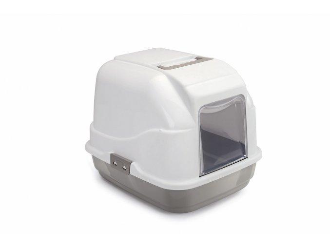 IMAC Krytý kočičí záchod s uhlíkovým filtrem a lopatkou - béžový - D 50 x Š 40 x V 40 cm