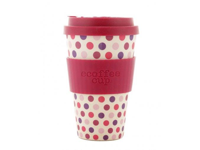 23616 ecoffee hrnek pink polka 400 ml