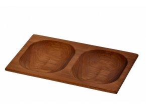 Lava wood - servírovací miska 15x24 cm
