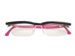 Nastavitelné dioptrické brýle Adlens, růžové - KP202R