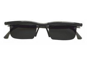 Nastavitelné dioptrické sluneční brýle Adlens, černé - KP203