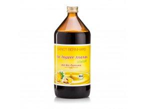 Zázvorovo-ananasový sirup s kurkumou BIO Sanct Bernhard 1000 ml
