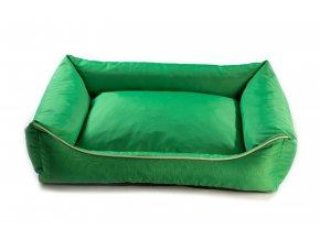Pelech pro psa Argi obdélníkový - snímatelný potah z polyesteru - zelený - 80 x 65 cm