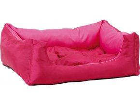 Pelech pro zvířata Argi obdélníkový s polštářem - růžový - 45 x 35 x 18 cm