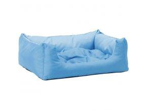 Pelech pro zvířata Argi obdélníkový s polštářem - modrý - 45 x 35 x 18 cm