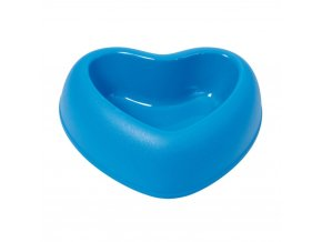 Plastová miska s protiskluzem Argi - srdce - modrá - 400 ml