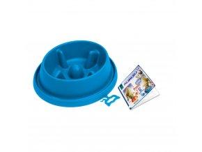 Plastová miska proti hltání s protiskluzem Argi - modrá - 25,5 x 23 x 6,5 cm