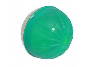 Míček s otvorem na krmivo Argi - zelený - 12 cm