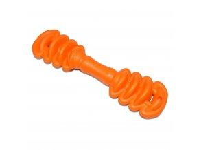 Gumová hračka pro psy Argi - typ 1 - oranžová - 17 x 5 cm