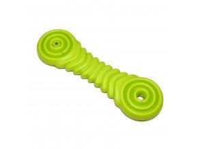 Gumová hračka pro psy Argi - typ 4 - zelená - 17 x 5  cm