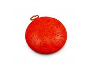 Frisbee - létající talíř Argi - gumový - červený - 17 cm