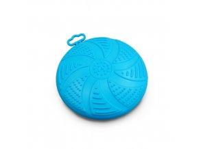 Frisbee - létající talíř Argi - gumový - modrý - 17 cm