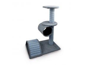 Škrabadlo pro kočky Argi - Becca - šedé - 80 x 40 x 60 cm