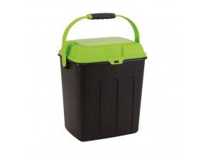 Maelson box na granule - černá / zelená - 27 x 22 x 31 cm