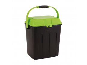 Maelson Box na granule pro 3,5 kg krmiva - černo-zelený - 27 x 22 x 31 cm