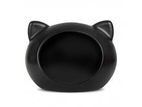 Guisapet plastový pelíšek pro kočky černý - 51 x 35,3 x 44,5 cm