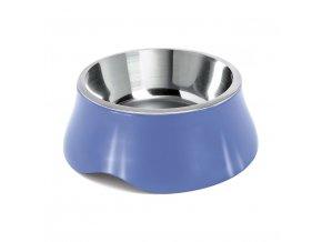 Miska pro psa Argi - nerez / plast - modrá - 900 ml