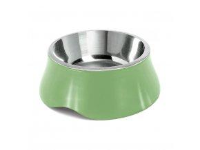 Miska pro psa Argi - nerez / plast - zelená - 2800 ml